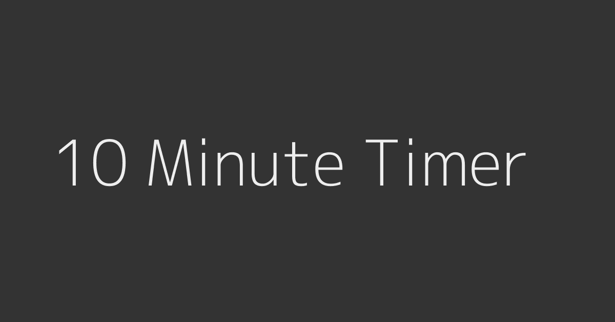 timer 10 minute